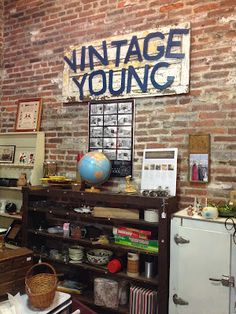 Love this homemade sign for antique booth