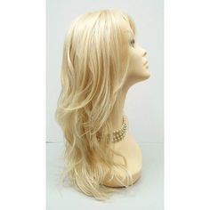 Long 18 Inch 613 Blonde Wavy Fashion Wig With Premium Heat Resistant... (€40) ❤ liked on Polyvore featuring beauty products, haircare, hair styling tools, hair, bath & beauty, black, hair care, wigs, hair dryer curling iron and curling iron