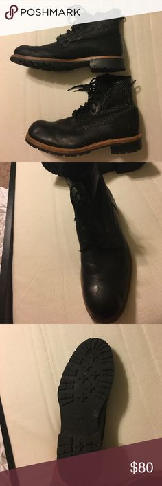 Leather boots Andrew Marc leather boots worn once but are way too big for me. Andrew Marc Shoes Boots
