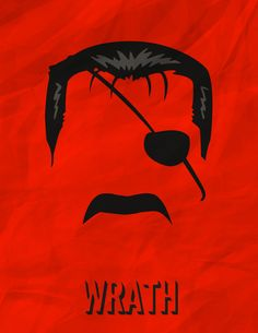 Minimalist Posters of Homunculi by Kyle Valenzuela - Wrath