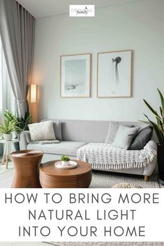 Looking for ways to bring more natural light in your home? These simple tips will hekp you make the most of natural light in every room. Boho Living Room, Home And Living, Earthy Living Room, Living Room Apartment, Barn Living, Living Room No Tv, Simple Living Room Decor, Black And White Living Room Decor, White Wall Decor