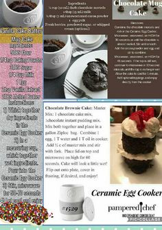 your Pampered Chef Ceramic Egg Cooker at /nsparman Pampered Chef Egg Cooker, Pampered Chef Party, Pampered Chef Recipes, Pampered Chef Products, Mug Recipes, Dessert Recipes, Recipies, Ceramic Egg Cooker, Yummy Treats