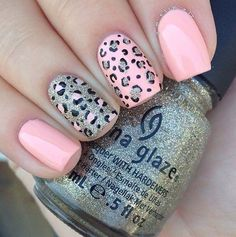 80 Classy Nail Art Designs for Short Nails  Leopard Nail Design for Short Nails #naildesigns #nailart #shortnails