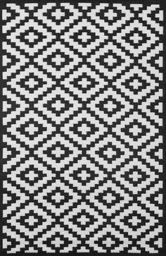 Nirvana Black and White Rug - Green Decore - 1