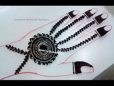 YouTube #unique #circular #ornament #jewellery #henna #mehndi #design #tutorial