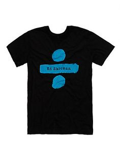 Ed Sheeran Divide T-Shirt, BLACK