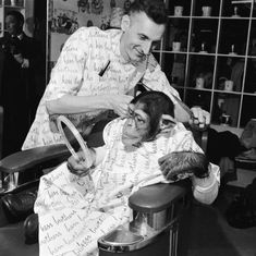 barbershop chimp