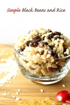 This easy black beans and rice recipe is versatile, inexpensive, and delicious!