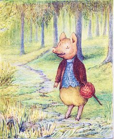 The Tale of Pigling Bland - He took a wrong turn–several wrong turns, and was quite lost
