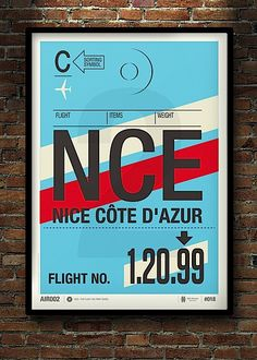 Designer and Illustrator from London, Neil Stevens was inspired by old airline baggage tags and decided to recreate some big prints based on...