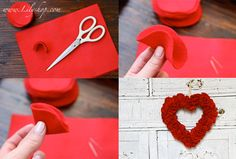 The Felt Valentine Wreath Tutorial