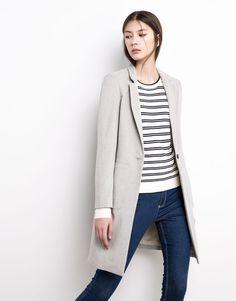 Pull&Bear - femme - manteaux et parkas - manteau style masculin - gris perle - 05750302-V2016