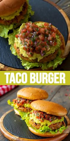 Healthy Grilling, Easy Healthy Dinners, Healthy Dinner Recipes, Mexican Food Recipes, Beef Recipes, Vegetarian Recipes, Cooking Recipes, Recipes With Guacamole, Vegetarian Burgers