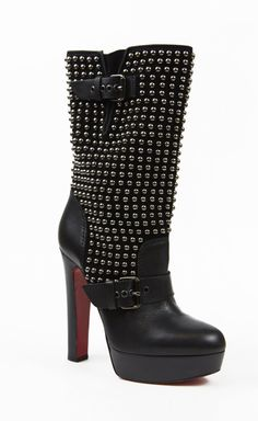 Christian Louboutin Black Booties