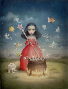 Nicoletta Ceccoli (AFA NYC | Pandora's Box – exhibition artwork)