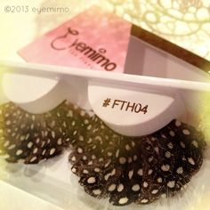 Feeling feathey? We've got it covered. False Eyelashes of the day is style #FTH04...available at www.eyemimo.com