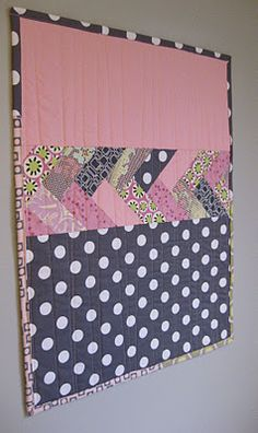 Baby Quilt for a boy or girl by changing the color.  All their birth information can go in the top block!!!