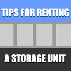 Here are some helpful tips for renting a storage unit to save you time, money and make your self-storage experience as positive and hassle-free as possible. Diy Storage Unit, Kids Bedroom Storage, Dorm Storage, Self Storage Units, Kids Storage, Cube Storage, Built In Storage, Storage Baskets, Storage Solutions