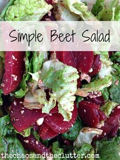 Simple Beet Salad: Perfect dinner-time side.