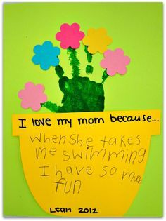 handprint craft for Mother's Day