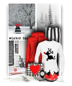 """""""Winter Day - Snapmade"""" by christiana40 ❤ liked on Polyvore featuring Off-White, Armani Jeans, Brighton and Baffin"""