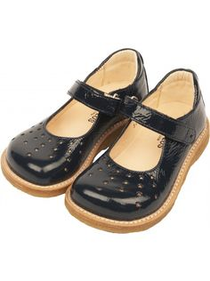 Angulus Girls Star Shoes In Blue | ELIAS & GRACE