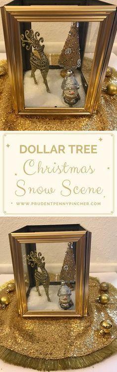 Dollar Tree Christmas Decor DIY Idea
