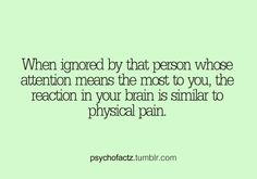 Emotional pain is like physical pain to the brain. Wierd Facts, Fun Facts, Random Facts, Psycho Facts, Crush Facts, Physical Pain, Emotional Pain, Psychology Says, Teenager Posts Crushes