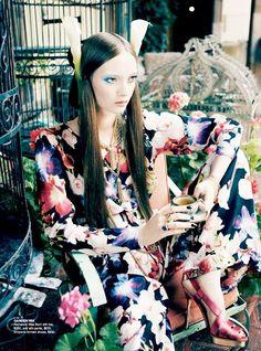 """Garden Tea"" from the editorial ""Orient Excess"" | Model: Codie Young, Photographer: Nicole Bentley, Vogue Australia, April 2011"