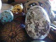 decoupage napkin eggs