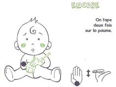I already told you about the Baby Signs method, but today I& looking for . - - I already told you about the Baby Signs method, but today I propose to you to discover several boards to start the sign language with v Album Design, Learn To Sign, French Signs, Baby Sign Language, Montessori Math, Baby Co, Workshop, French Language Learning, Co Parenting