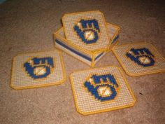 brewers coaster set Plastic Canvas Pattern 3.00
