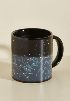 The Big Sipper Mug. Teach everyone at the table about the celestial landmarks that theyll spy in tonights clear sky by pouring your piping-hot beverage into this stellar mug! #black #modcloth