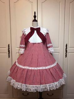 Angel's Heart Sweet Gingham Pure Cotton Lolita OP Dress