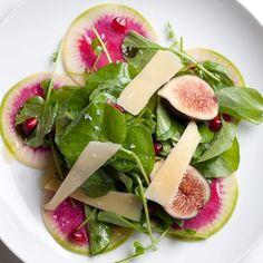 Watermelon radish and watercress salad