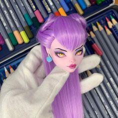 Monster High Dollhouse, Custom Monster High Dolls, Monster High Repaint, Custom Dolls, Ooak Dolls, Barbie Dolls, Art Dolls, Kawaii Doll, Barbie Fashionista
