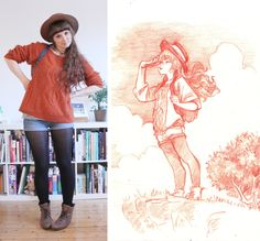 new blogpost :Dhttp://dressesanddrawings.tumblr.com/post/119589978153/part2-i-so-love-the-color-of-this-new-hat