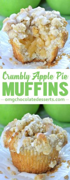Apple Pie Muffins with Streusel Crumbs - OMG Chocolate Desserts