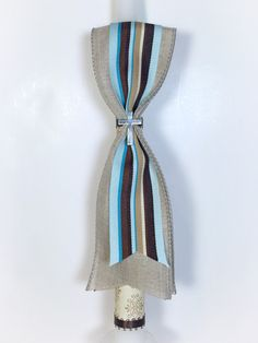 Tan Stripe Greek Easter Candle Lambatha by EllinikiStoli on Etsy