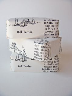 soap wrapper - a photocopy of a favorite word from the dictionary