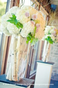 New birch tree wedding ceremony branches 46 Ideas Hydrangea Wedding Decor, Tree Wedding Centerpieces, Ceremony Decorations, Tree Decorations, Wedding Flowers, Birch Centerpieces, Centrepieces, Willow Tree Wedding, Birch Tree Wedding
