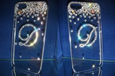 Swarovski crystal Customized Initial D by blingstuffshop on Etsy, $37.00