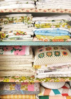 Dottie Angel's linen cupboard. sigh. x In my fantasy world, I am Dottie Angel....