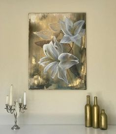 Lilly oil painting paint royal flowers Original oil painting: Lily 5070 cm oil painting canvas These flowers are signing for beauty royalty and self-confident. Strength and beauty in one place. The scent that enlightens. Oil Painting Flowers, Oil Painting On Canvas, Canvas Wall Art, Drawing Flowers, Flower Paintings, Oil Paintings, Paint Flowers, Indian Paintings, Real Flowers