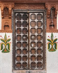 Carved Wooden Indian Door Jodhpur, Rajasthan, India / Alexander Grabchilev for Stocksy United Beautiful Architecture, Classical Architecture, Indian Doors, Traditional Doors, Neutral Paint, Paint Finishes, Inspired Homes, Home Deco, Entrance
