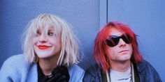 ca. 1992 --- Courtney Love and Kurt Cobain --- Image by © Dora Handel/CORBIS…