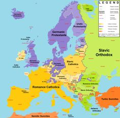 Religions and Language Families in Europe.
