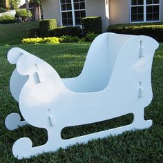 Resultado de imagen de how to make a sleigh for the yard