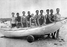 Bette Davis (the lone female lifeguard that summer) AND the Ogunquit (Maine) Life Boat Crew - 1926     addie65, via Flickr
