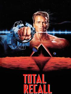 Official theatrical movie poster ( of for Total Recall Directed by Paul Verhoeven. Best Movie Posters, Film Posters, Fiction Movies, Science Fiction, Science Movies, Tv Series Online, Movies Online, Cyberpunk, After Earth